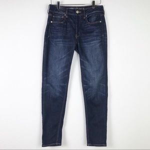 American Eagle Tomgirl Button Fly Relaxed Whiskered Jeans Size 2
